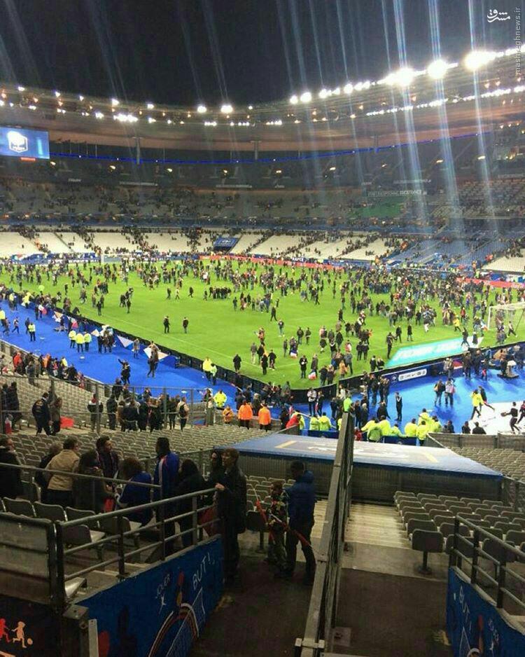 عکس/ ورزشگاه پاریس بعداز شنیده شدن صدای انفجار