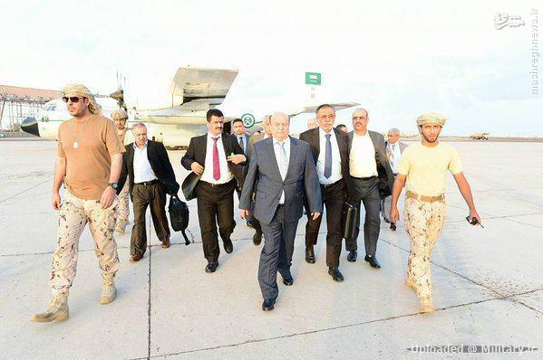 ورود دیکتاتور یمن به عدن+تصاویر