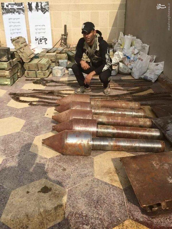 کشف انبار مهمات داعش در شمال رمادی+تصاویر