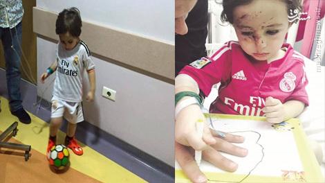تماس تلفنی کریستیان رونالدو با کودک مجروح لبنانی+تصویر