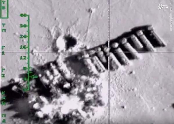 انهدام 500 تانکر نفت داعش در سوریه+عکس و فیلم