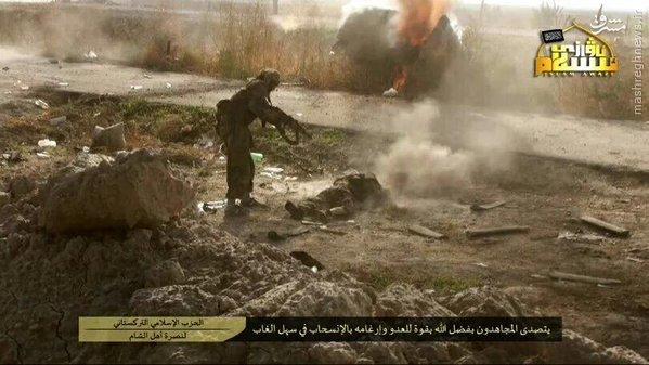 تیر خلاص تروریستهای چینی به مجروحان ارتش سوریه+تصاویر