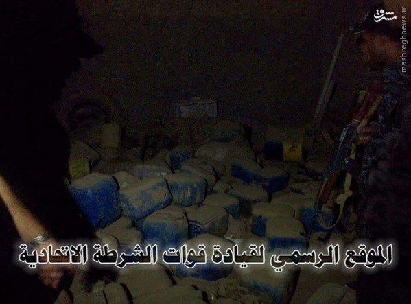 کارگاه ساخت بمب و مواد منفجره داعش+تصاویر