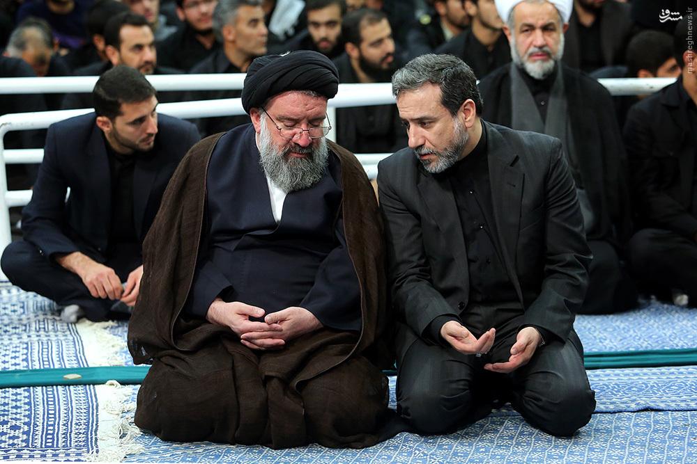 عکس/ گفتگوی عراقچی و سیداحمد خاتمی در بیت رهبری