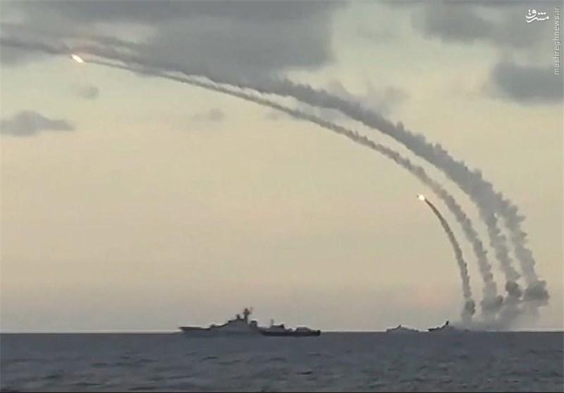 شلیک موشکهای کروز از دریای خزر بهسمت مواضع داعش +عکس