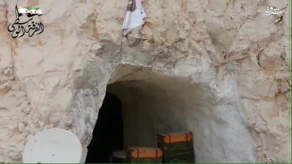 فرار تروریستهای ارتش آزاد به غارها+تصاویر