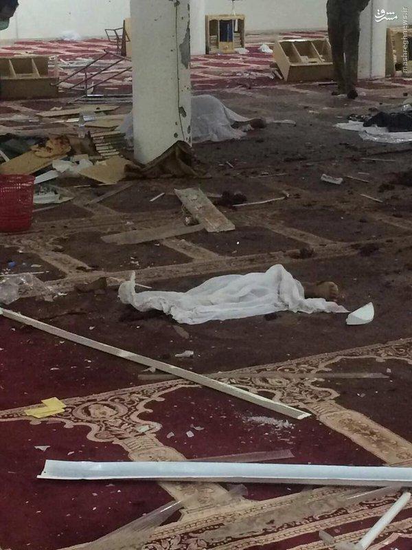 انفجار انتحاری در مسجد شیعیان نجد+تصاویر
