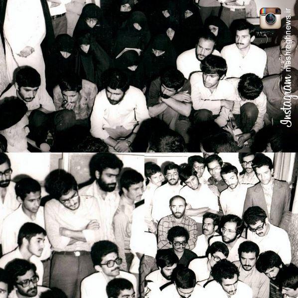 عکس/ اصغرزاده، میردامادی و محمود احمدی نژاد در دیدار با امام خمینی(ره)