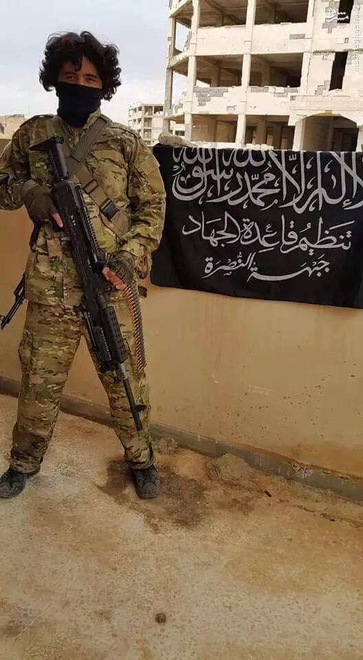عکس/ تیربار آمریکا در دست تروریستهای النصره