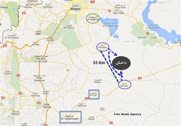 داعش در لاک دفاعی و محاصره حلب + نقشه