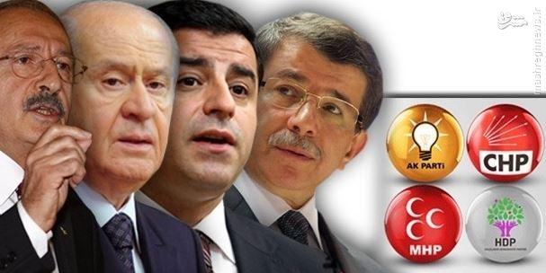اردوغان به آرزوی خویش نخواهد رسید! تشکیل دولت ائتلافی یا دور سوم انتخابات؟/ احتمال سقوط حزب حرکت ملی به رده چهارم احزاب بزرگ