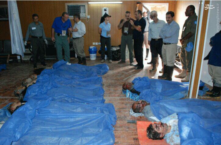 اجساد تلنبار شده منافقین در لیبرتی+تصاویر