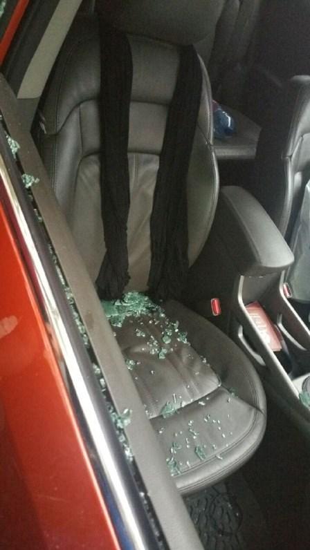 حمله موتورسواران به ماشین حامد زمانی + عکس