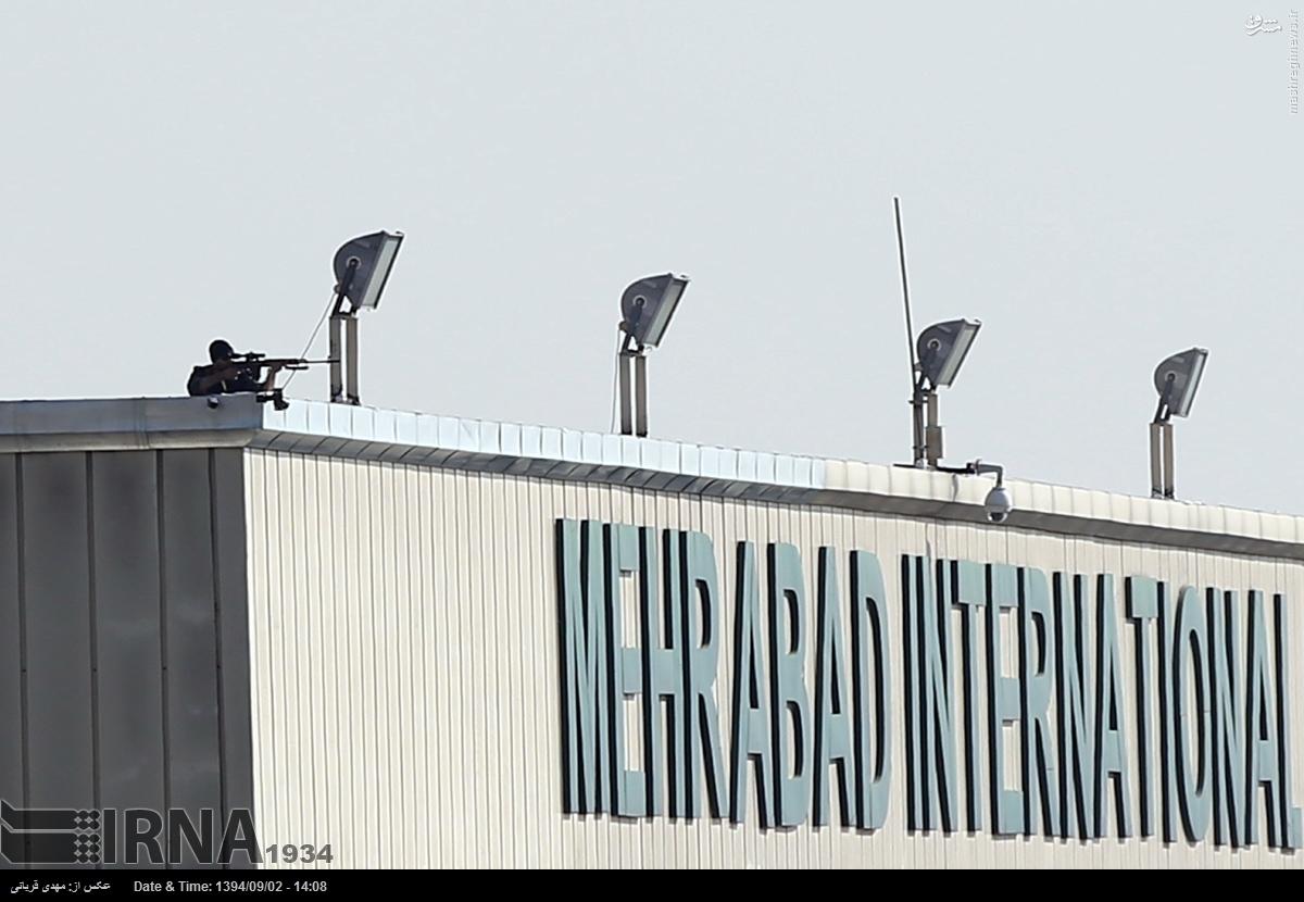 عکس/ حفاظت از پوتین با تک تیرانداز در فرودگاه مهرآباد