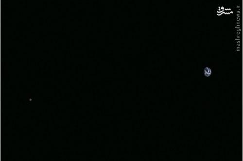 عکس خارقالعاده فضاپیمای ژاپنی از زمین و ماه