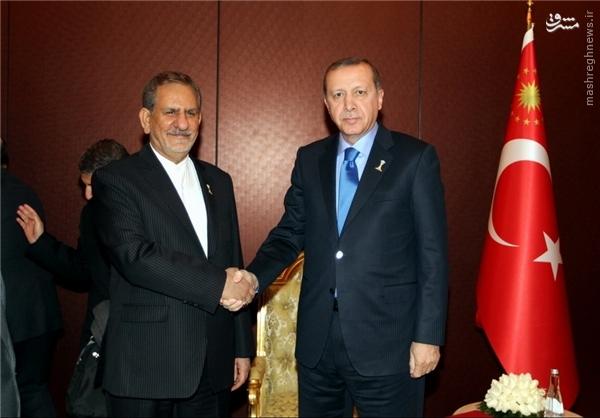 عکس/ ژست اردوغان در دیدار با جهانگیری