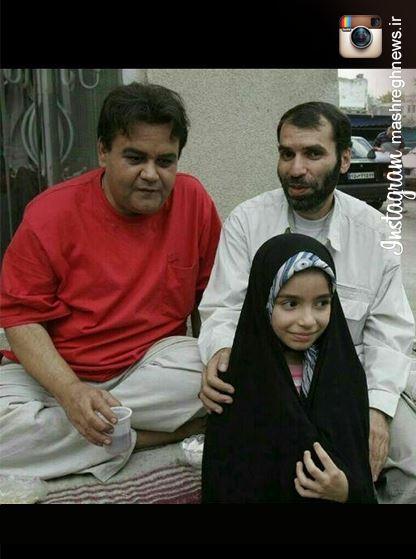 عکس/ دهنمکی و دخترش با اکبر عبدی