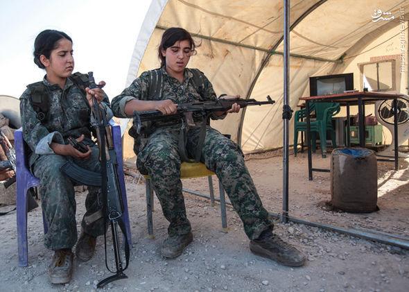 داعشی های بزدل از این زنان می ترسند +تصاویر