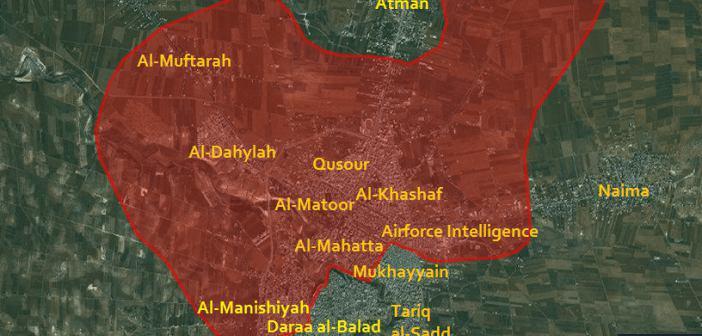 پیش روی ارتش سوریه در نزدیکی مرزهای اردن