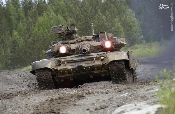 T-90 گردن کلفت ترین تانک عملیاتی روسیه+عکس