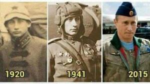 شباهت عجيب پوتين به سرباز روسي در 76 سال پيش +عکس