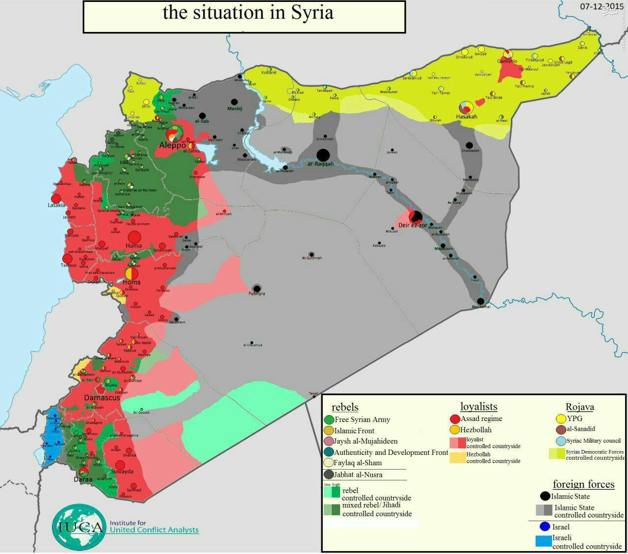 اخرین تحولات سوریه + نقشه
