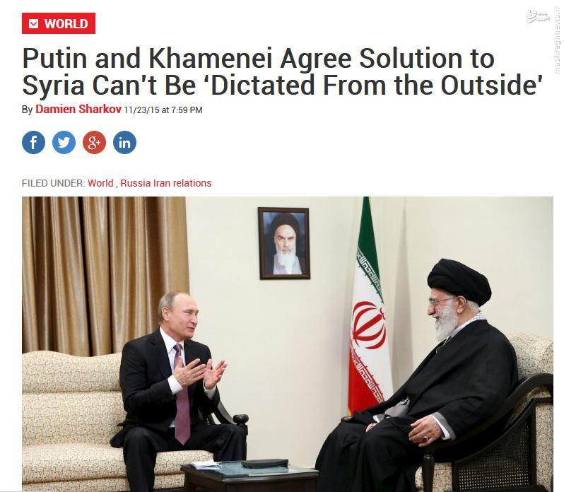 بازتاب دیدار خاص ولادیمیر پوتین با رهبر معظم انقلاب در رسانههای جهان + تصاویر