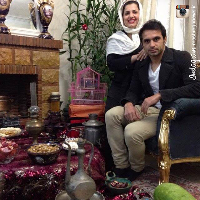 عکس/ سفره یلدای کاپیتان ابدی پرسپولیس در کنار همسرش