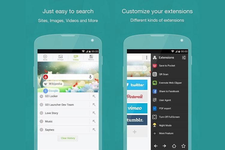 دانلود Next Browser نرمافزار مرورگر اینترنتی سبک برای اندروید