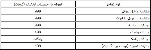 طرحهای ایرانسل برای اربعین+ تعرفه