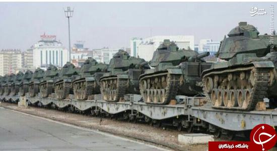 انتقال تانکهای ارتش ترکیه به مرز سوریه +تصاویر