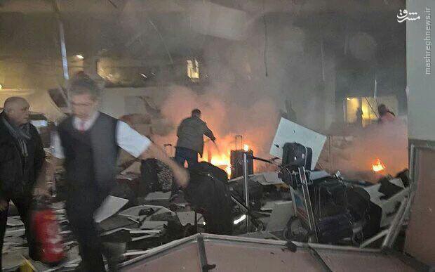 2 انفجار و تیراندازی در فرودگاه آتاتورک ترکیه+عکس