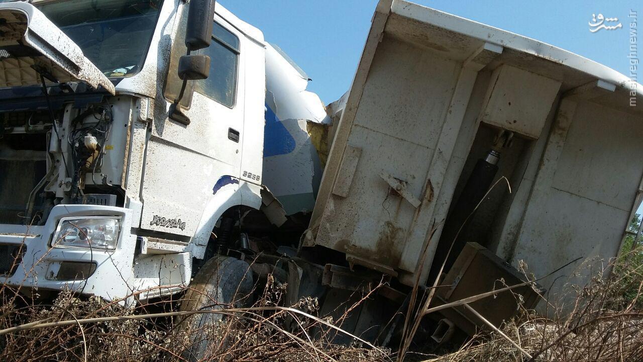تصادف قطار با کامیون در محدوده گلوگاه