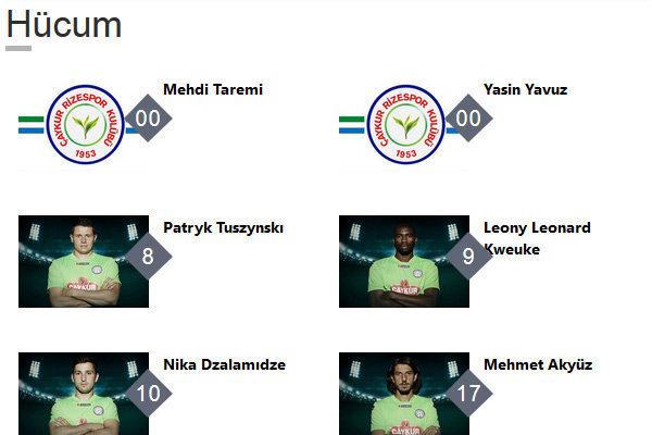 طارمی هنوز بازیکن ریزه اسپور است +عکس