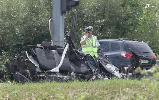 مرگ دو فوتبالیست در سانحه رانندگی +عکس