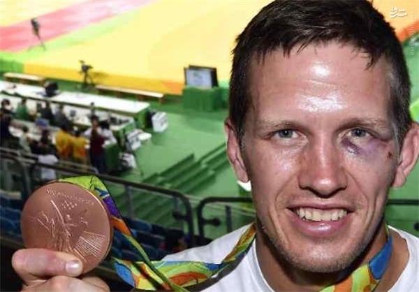 مدالآور المپیکی بلژیک در هتل کتکخورد + تصویر