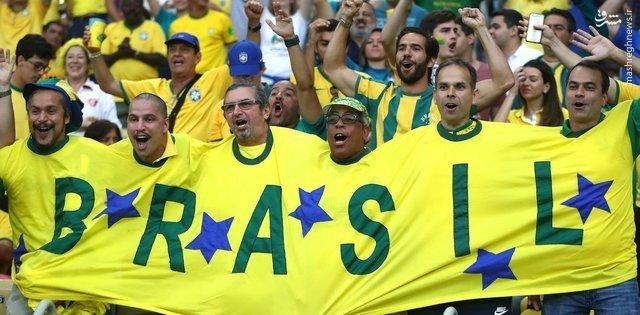عکس/ ابتکاری زیبا از هواداران برزیل