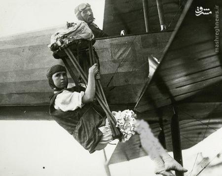 اولین زن چتر باز جهان +تصاویر