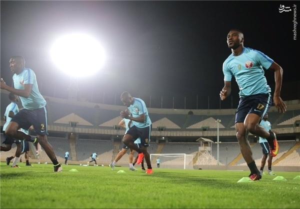 اولین تمرینات قطر در ورزشگاه آزادی +عکس