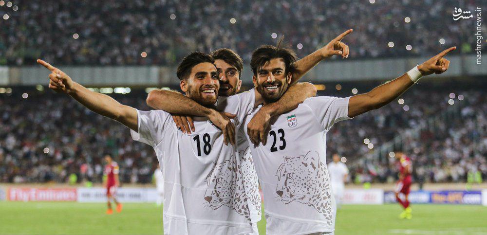 عکس/ شادی 3 ستاره ایران پس از برد مقابل قطر