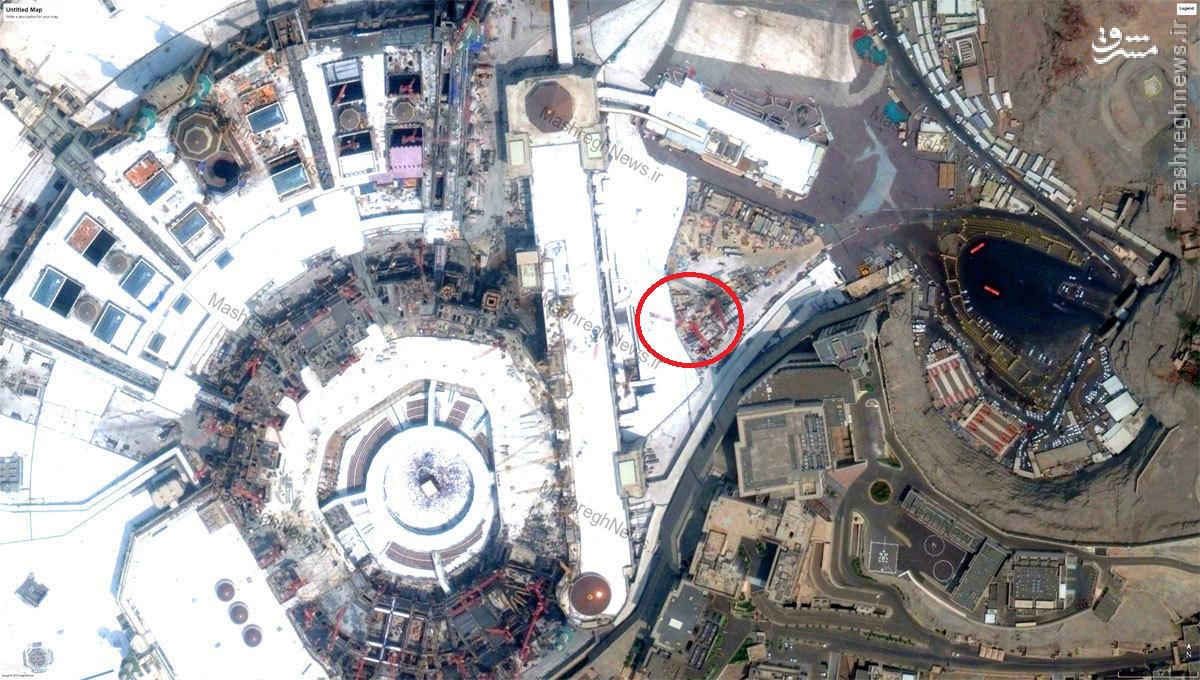 تصاویر ماهوارهای از سقوط جرثقیل در مکه /// آماده (در سالگرد سقوط منتشر شود)
