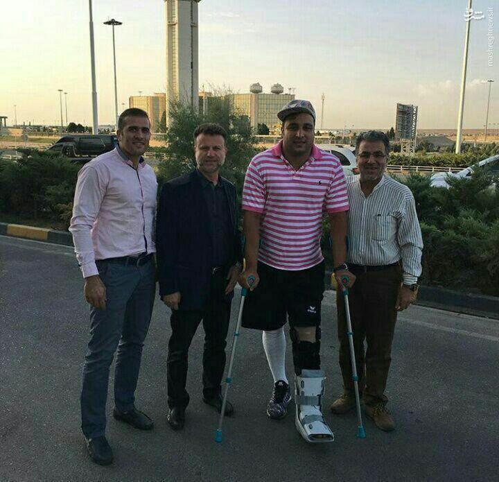 احسان حدادی به کشور بازگشت +عکس