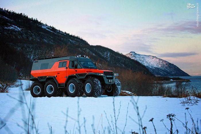 کامیون هشت چرخ روسی با قابلیت های استثنائی+تصاویر
