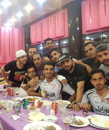 عکس/ شام پرسپولیسیها با حضور حاتمی