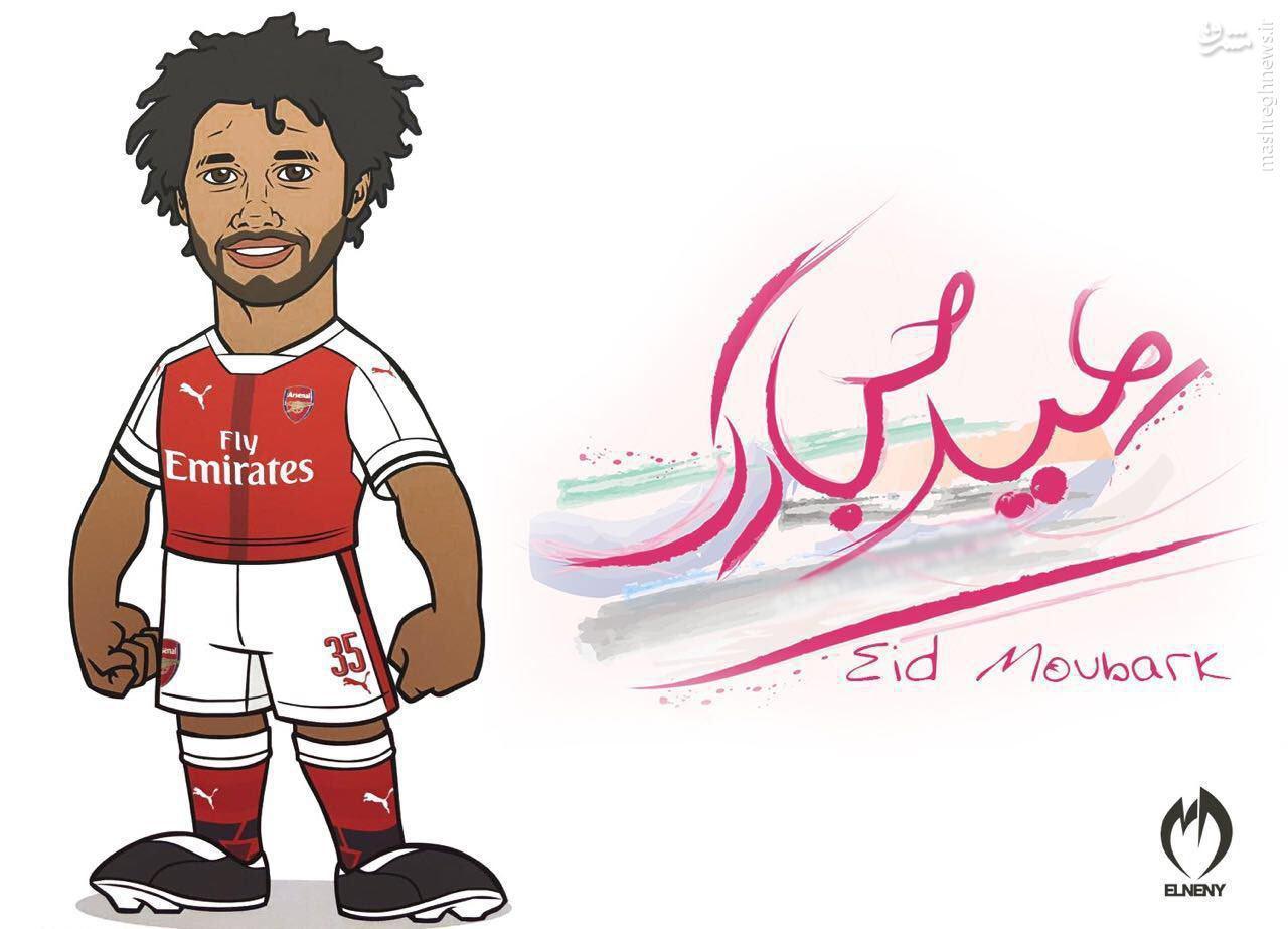 عکس/ تبریک عید قربان توسط بازیکن آرسنال