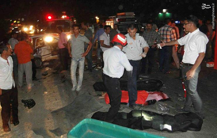 تصادف سوناتا و پراید در جاده خرم آباد