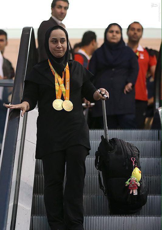 عکس/ بازگشت غریبانه بانوی افتخار آفرین ایران