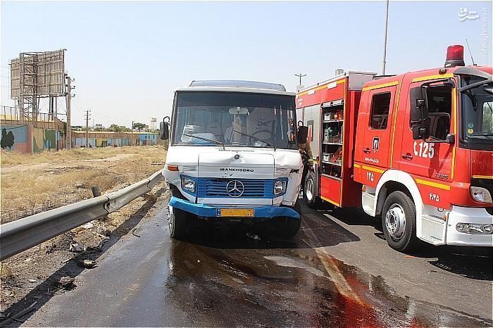 برخورد مرگبار 206 با گاردریل آزادراه تهران+تصاویر