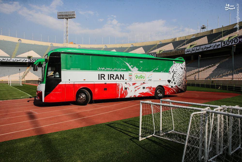عکس/ اتوبوس جدید تیم ملی فوتبال ایران