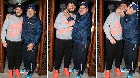 اعتراف بزرگ مارادونا درباره پسرش +عکس